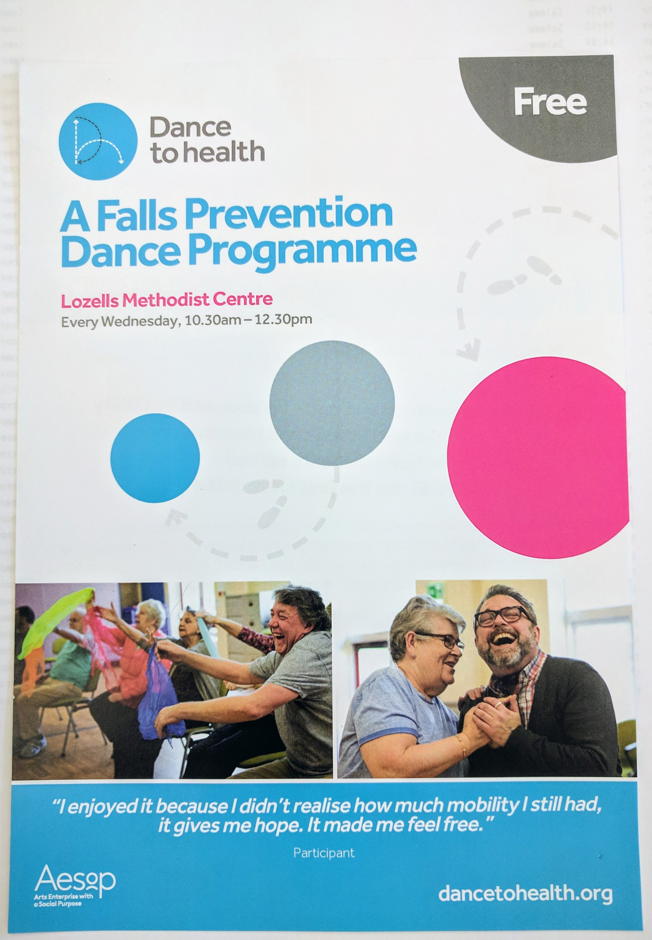 Falls Prevention Dance Programme